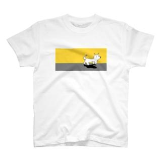 カムチャッカマーガリンドッグ(黄色) T-shirts