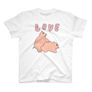 ラブブタ T-shirts
