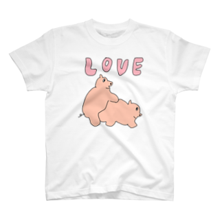 NIPPASHI SHOP™のラブブタ T-shirts