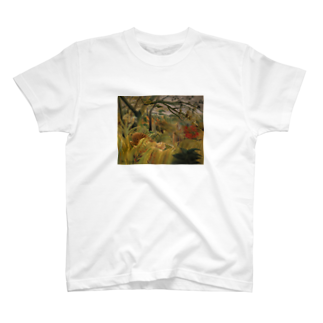 Art Baseの熱帯嵐のなかのトラ / アンリ・ルソー(Tiger in a Tropical Storm(Surprised!)1891) T-shirts