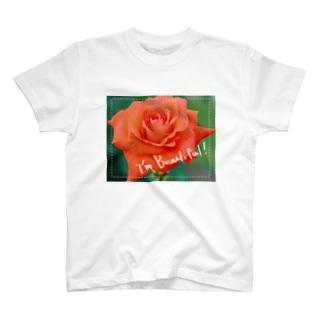 私は薔薇のように美しい。 T-shirts