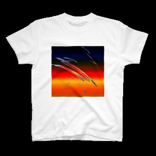 AngelRabbitsの夕焼け T-shirts