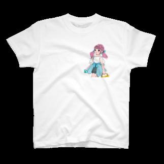 kaeruco(* 皿 *)のピクニックガール T-shirts