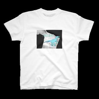 Linosaursのブルーアイズラプトル T-shirts