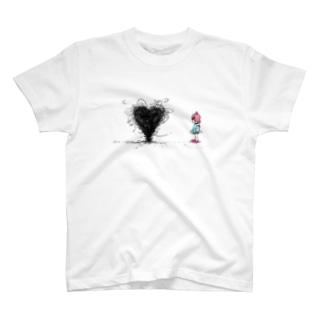 ハートを作る虫 T-shirts