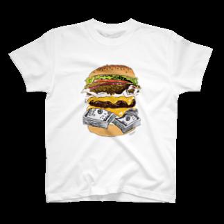 IN-SHOCKのハンバーガー T-shirts