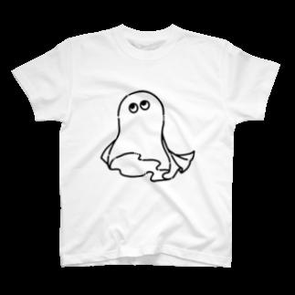 尾崎復活のおばけ(黒) T-shirts