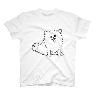 わんちゃん(黒) T-shirts