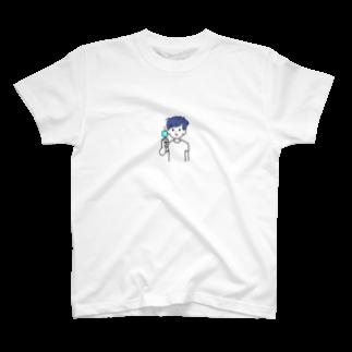 HAND部のアイス君 T-shirts