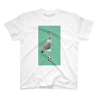 ミント フクロウ T-shirts