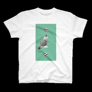 ナカザワのミント フクロウ T-shirts