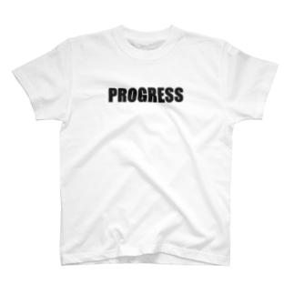PROGRESS黒 T-shirts
