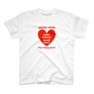 aloha state (ハート) T-shirts