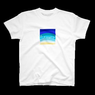 Okinaworld Shopの旅に出かけよう(海色A) T-shirts