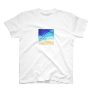 旅に出かけよう(海色B) T-shirts
