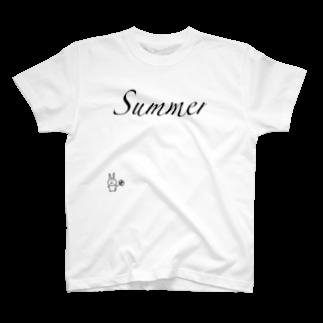 はとみ(HaToMi_8103sgm)のNATSU  NO  USAGI T-shirts