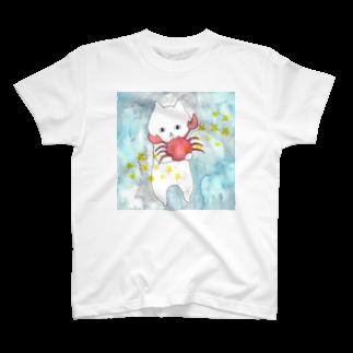 フクモトエミのかに座のネコ T-shirts