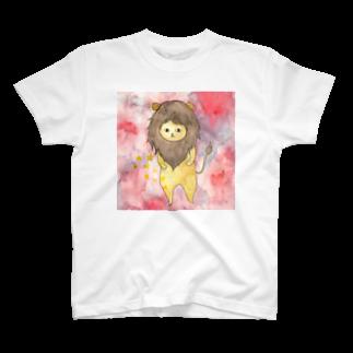 フクモトエミのしし座のネコ T-shirts