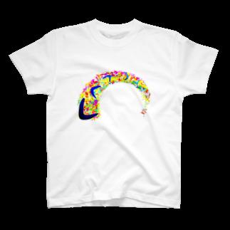 SHIRU-SHIのブーメランの女の子 T-shirts