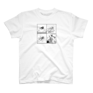marketUのキュアオカメ 4コマ T-shirts