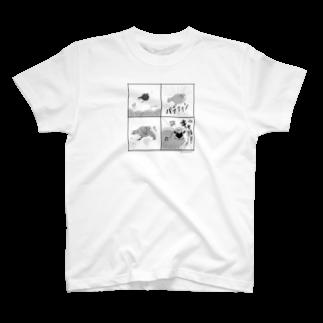 marketUのキュア文鳥 4コマ T-shirts