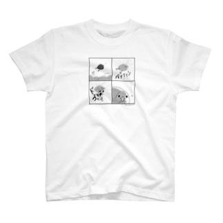 キュアうずら 4コマ T-shirts