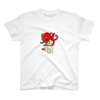 タコ被りタオさん T-shirts