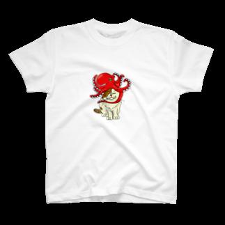 fukunekoyokocyouのタコ被りタオさん T-shirts