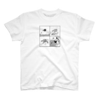 [バックプリント+]キュア文鳥 4コマ T-shirts