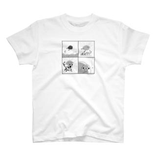 [バックプリント+]キュアうずら 4コマ T-shirts