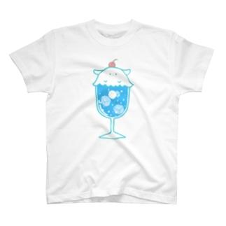 クリームソーダに擬態するメンダコ(ソライロソーダ)-擬態妖精ミミカ- T-shirts