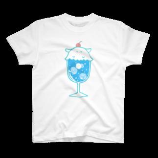 きこのまのクリームソーダに擬態するメンダコ(ソライロソーダ)-擬態妖精ミミカ- T-shirts