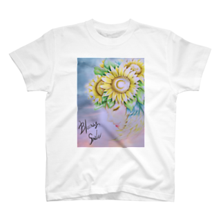 華羅諏(カラス)のblooming  smile T-shirts