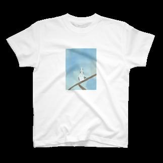 かな工房の連なるシマエナガさん T-shirts