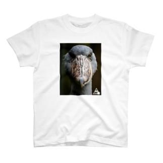 肘爆の肘爆photoT ver.ハシビロコウ T-shirts