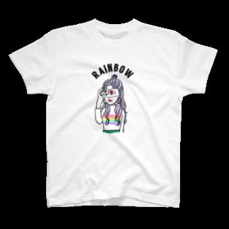 ayk_k24のRainbowニットちゃん T-shirts
