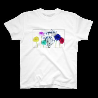 Rucolieのflowers T-shirts