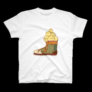 さえだまりのぴよ盛り T-shirts