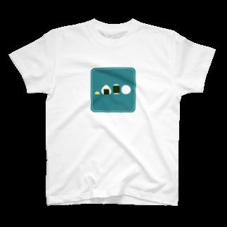 FUJIMAのおにぎり(ブルー) T-shirts