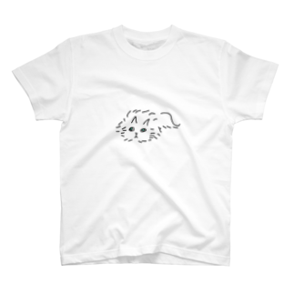 kojiのふわふわのネコ T-shirts