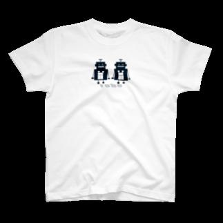 mashibuchiのくろロボットコンビ T-shirts