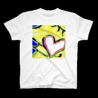 happymoonkobeのhappymoonkobe Heart T-shirts