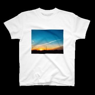 あんこの夕焼けフォトグラフ T-shirts