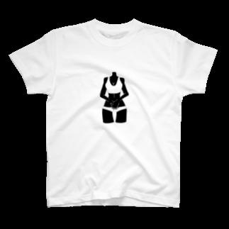 フクダナゴの首なしビニキ T-shirts