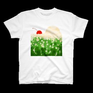 青い春のクリームソーダに溺れる T-shirts