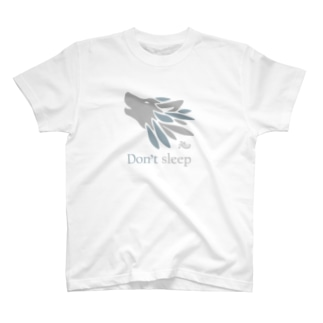 寝るなオオカミ(薄色用) T-Shirt