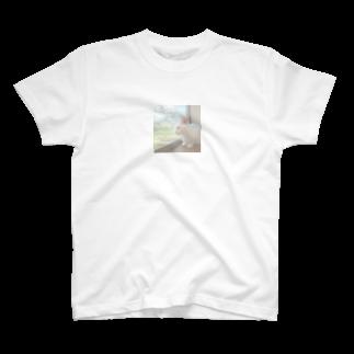 rumm_rummmのもちもちしろちゃん T-shirts
