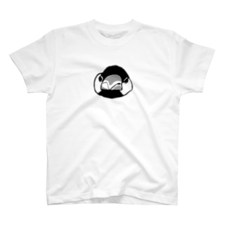 怒ってる文鳥の顔 T-shirts