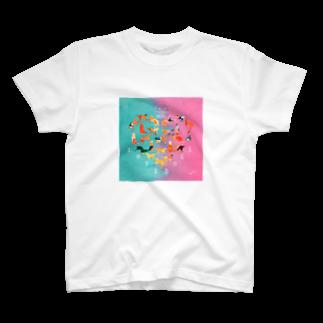 アライグマ製作所(SUZURI)のLOVE NICOLE T-shirts