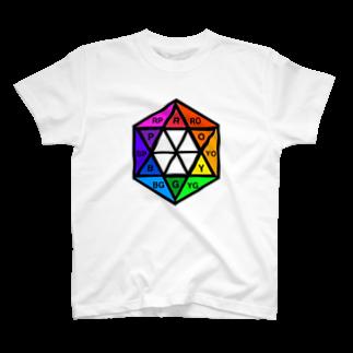 MedelBox™️ by MEDELの相対十二色相環  (イニシャル) T-shirts